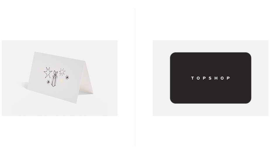 Topshop Gift Card